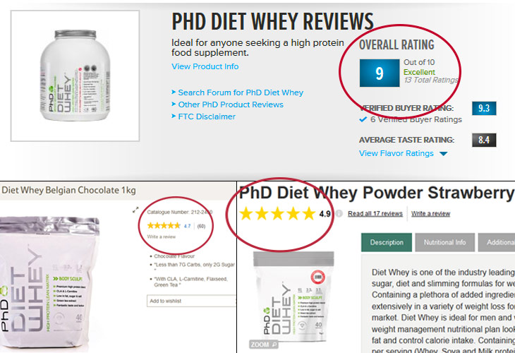 PhD Diet Whey Reviews Online