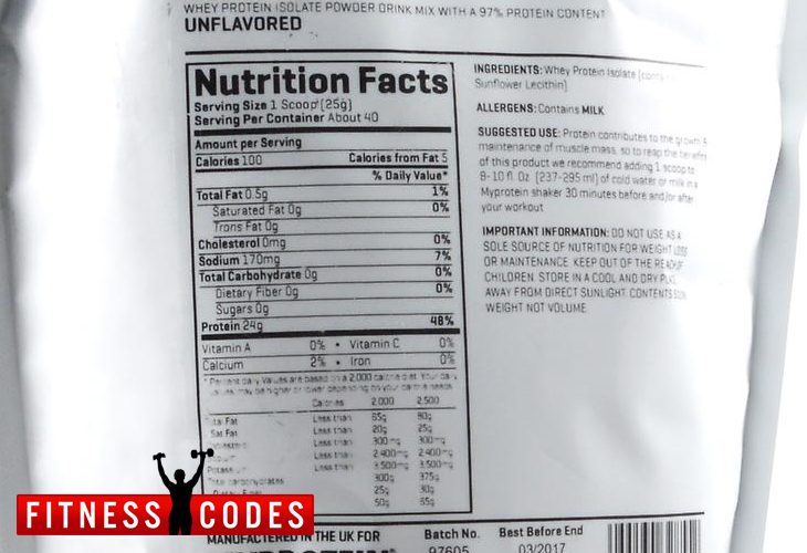myprotein-isopro-ingredients
