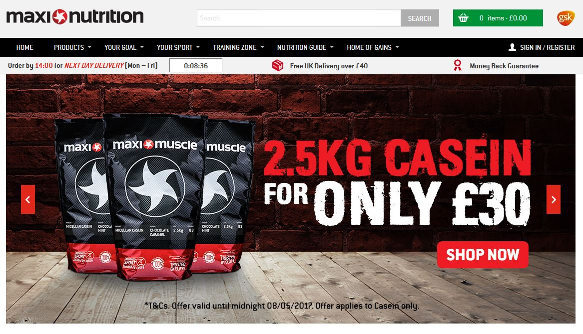 Keep an eye on the MaxiNutrition homepage for some exellent promo deals
